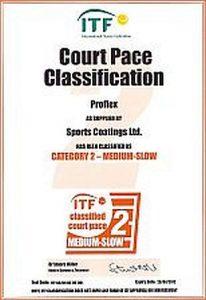 proflex pályák ITF minősítése