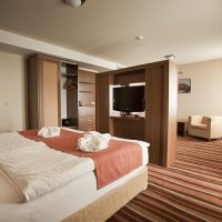 Deluxe (4*)1 Person/night:28 900 HUF (95 €)2 Person/night: 32 900 HUF (108€)
